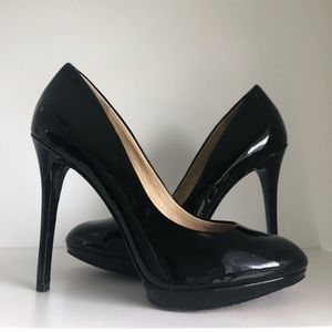 Brian Atwood Black Patent Pumps